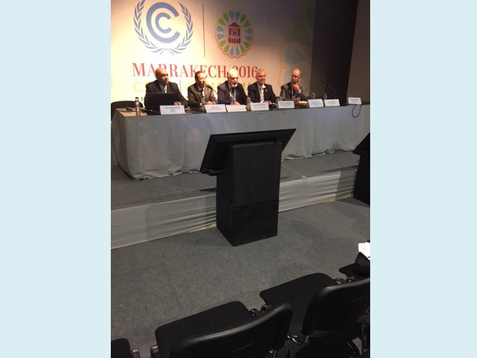 9 Nov. 2016, Marrakesh, Morocco – SWIM-H2020 SM Side Event at the 22th Session of Conference of the Parties (COP 22)