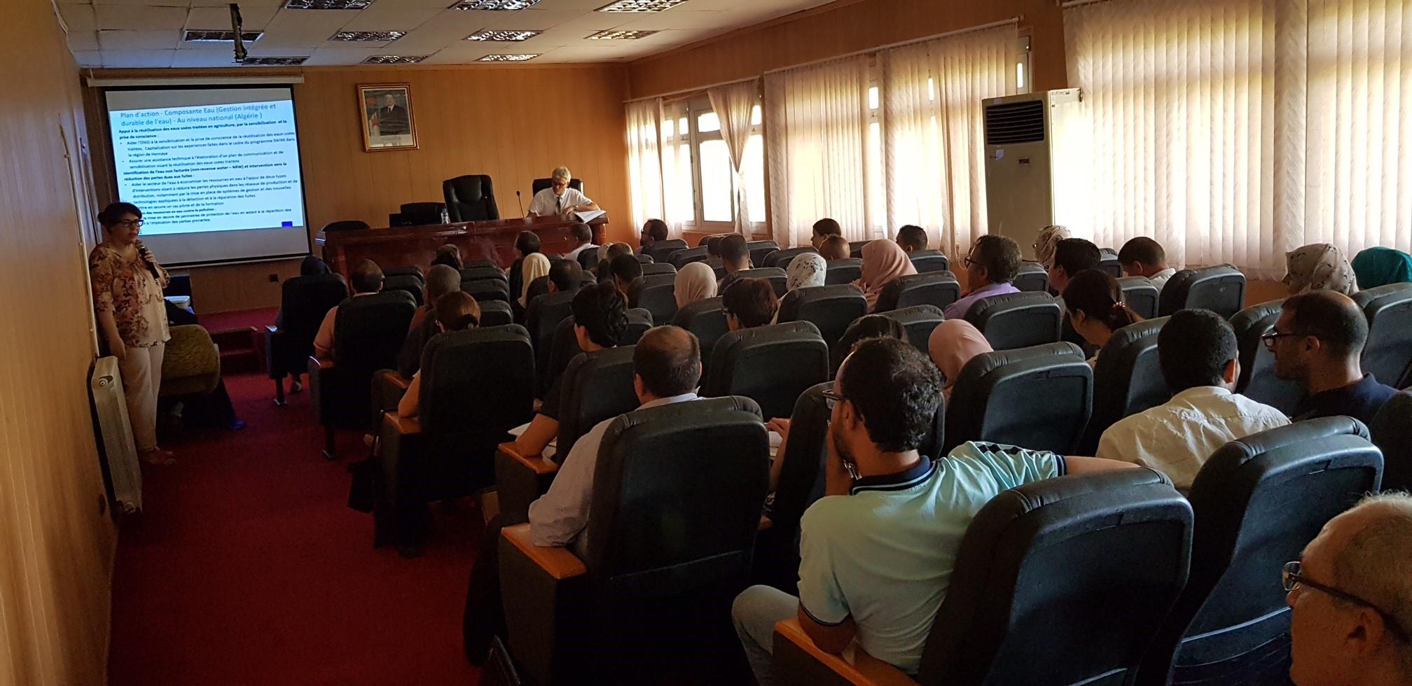 12 juillet 2018, Alger, Algérie – SWIM-H2020 Atelier de Formation «Protection des ressources en eau contre la pollution»
