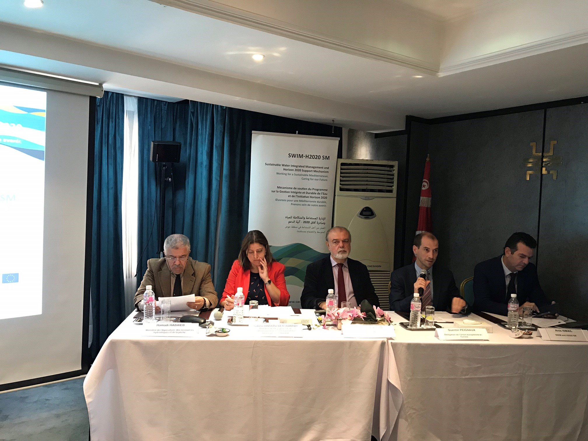 8 octobre 2018, Tunis, Tunisie – SWIM-H2020 SM Réunion nationale Tunisie