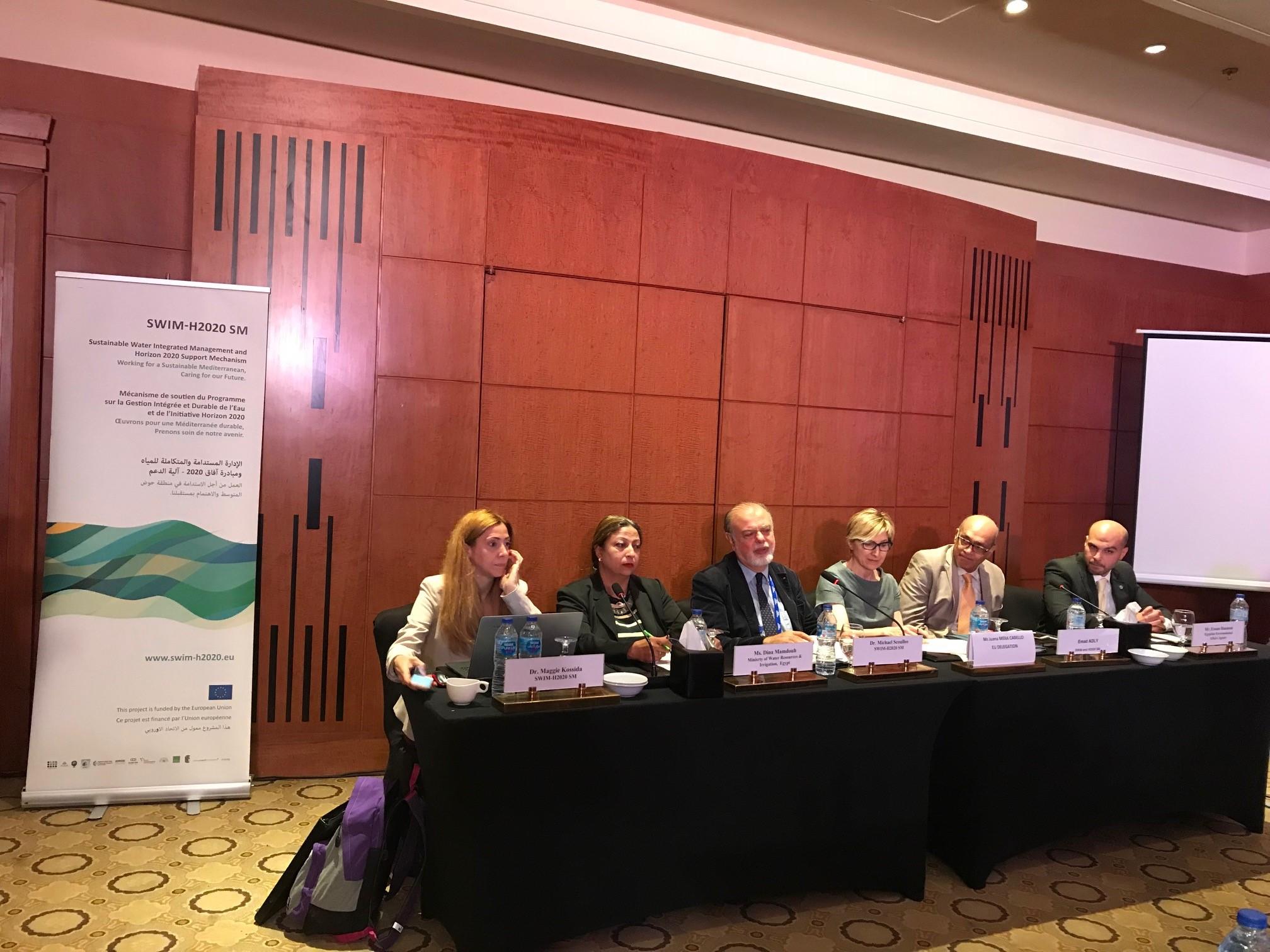 16 octobre 2018, Caire, Égypte – SWIM-H2020 SM Événement parallèle lors de la Semaine de l'eau au Caire : une réunion nationale pour l'Égypte