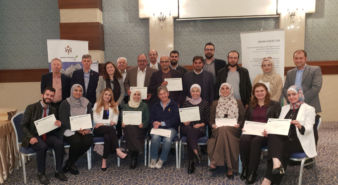 "26-27 November 2018, Amman, Jordan – SWIM-H2020 SM Training ""Capacity Building for the Development on Economic and Financial Instruments and Incentives to Promote Circular and  Green Economy and Sustainable Consumption & Production"""