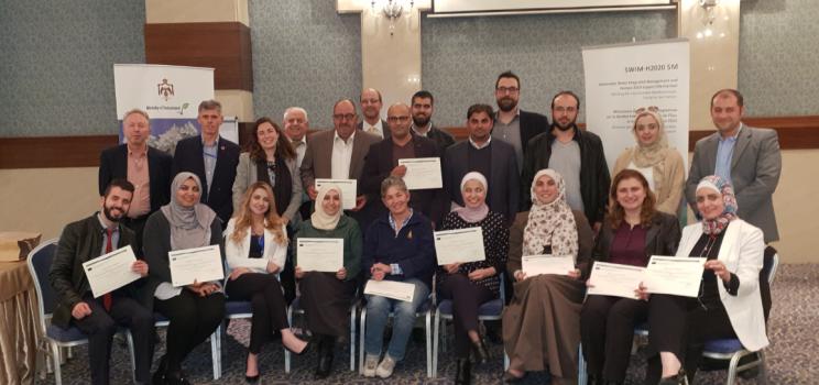 """27-28 2018، عمان، الأردن – تدريب لآلية دعم الإدارة المستدامة والمتكاملة للمياه ومبادرة آفاق 2020 حول """"بناء القدرات لتطوير أدوات ومحفزات اقتصادية ومالية لتطوير اقتصاد دائري ودائري واستهلاك وإنتاج مستدامين"""""""
